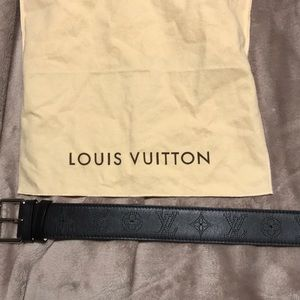 Louis Vuitton Accessories - Vintage Louis Vuitton black monogram belt 38 IN